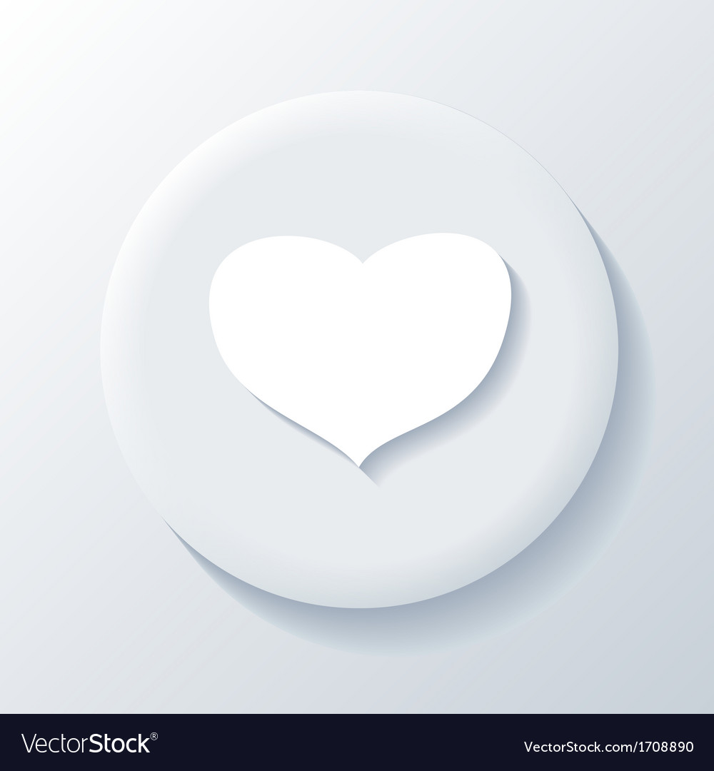 Love 3d paper icon vector | Price: 1 Credit (USD $1)