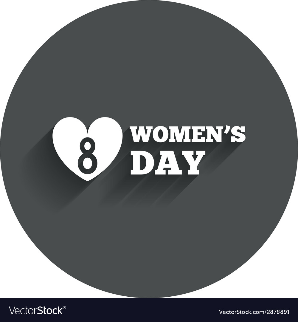 8 march womens day sign icon heart symbol vector | Price: 1 Credit (USD $1)