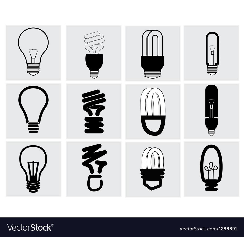 Bulb icon vector | Price: 1 Credit (USD $1)