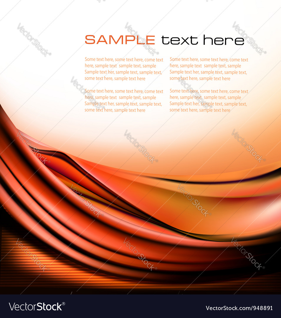 Colorful orange abstract background vector | Price: 1 Credit (USD $1)