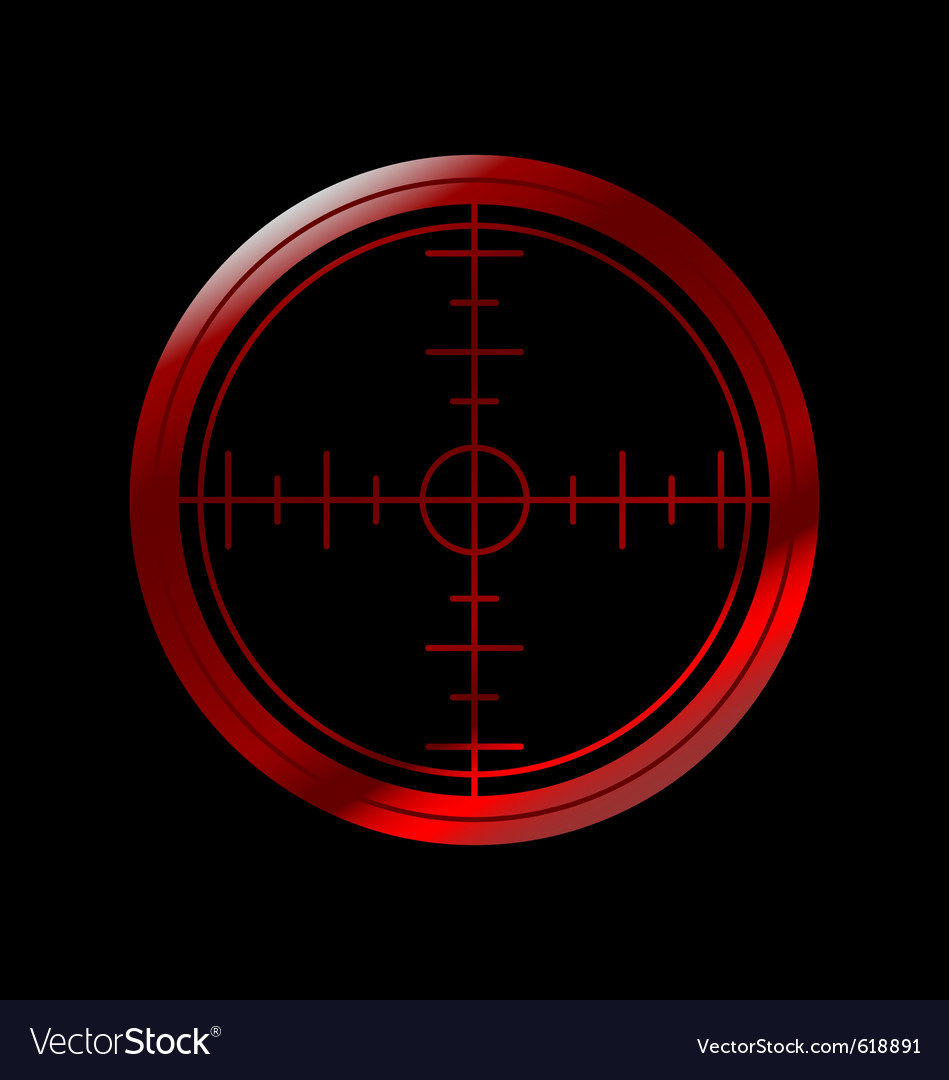Crosshairs vector | Price: 1 Credit (USD $1)