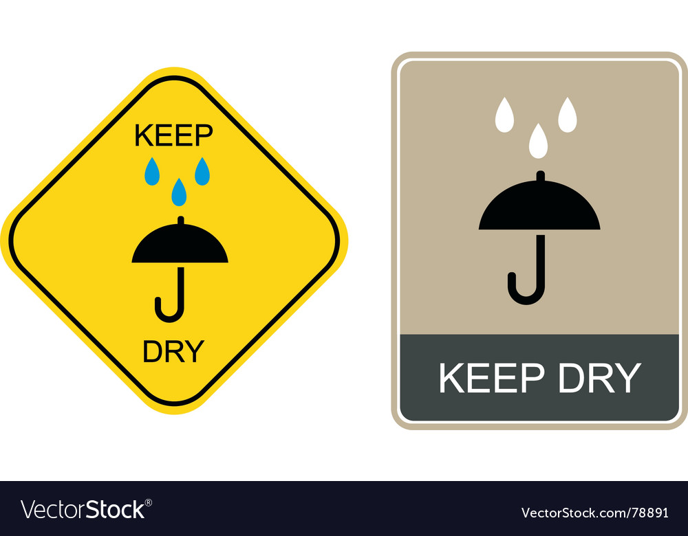 Keep dry warning sign vector | Price: 1 Credit (USD $1)