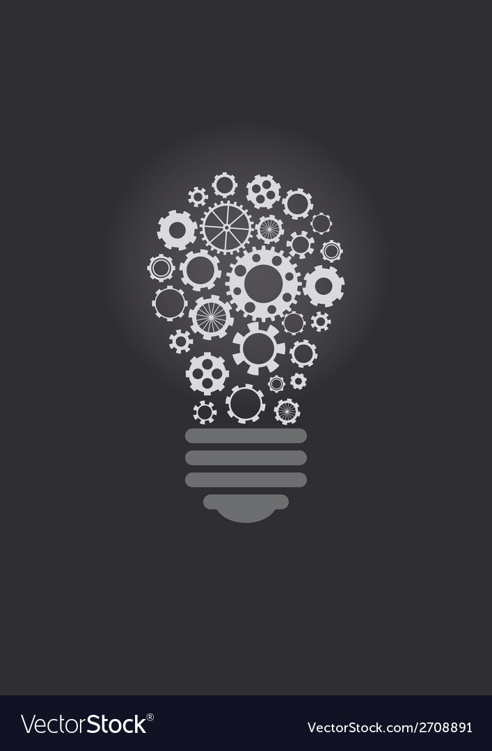 Lightbulb with cogwheels vector | Price: 1 Credit (USD $1)
