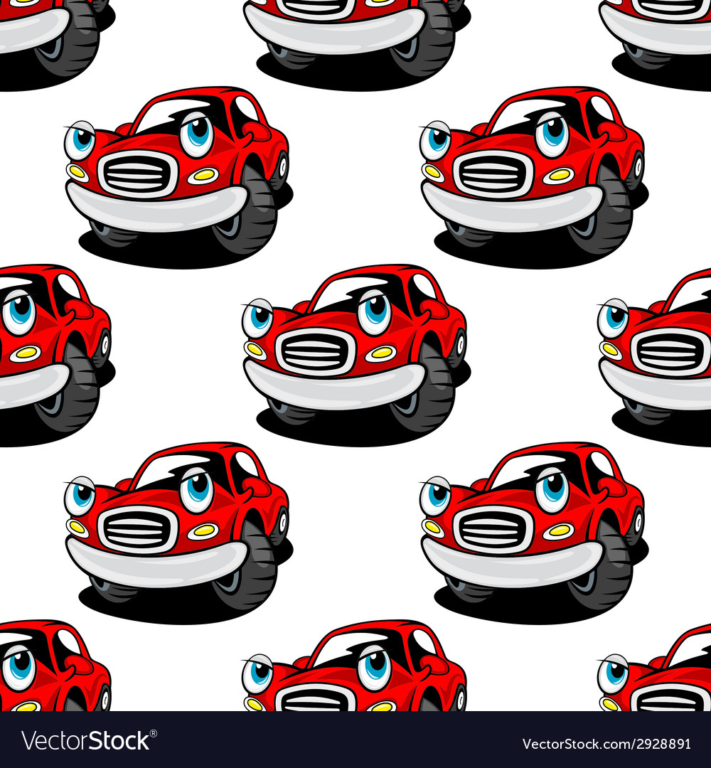 Retro cartoon cars seamless pattern vector | Price: 1 Credit (USD $1)