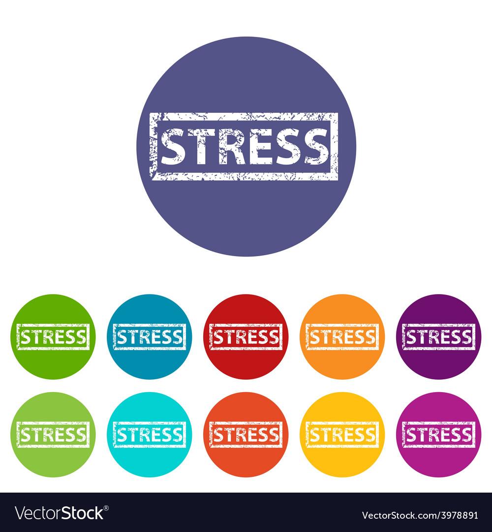 Stress flat icon vector | Price: 1 Credit (USD $1)