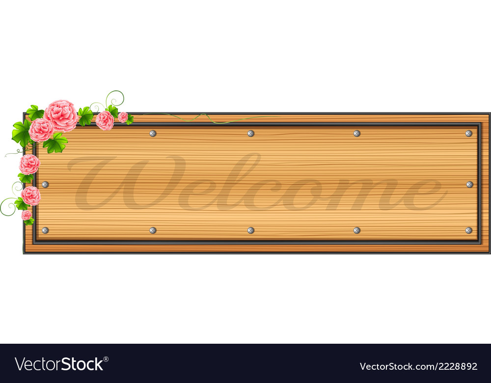 A signage with pink floral border vector | Price: 1 Credit (USD $1)