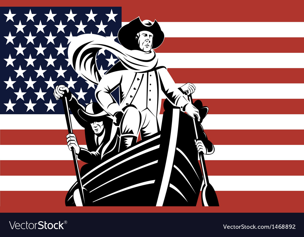 American revolution soldier general flag vector | Price: 1 Credit (USD $1)