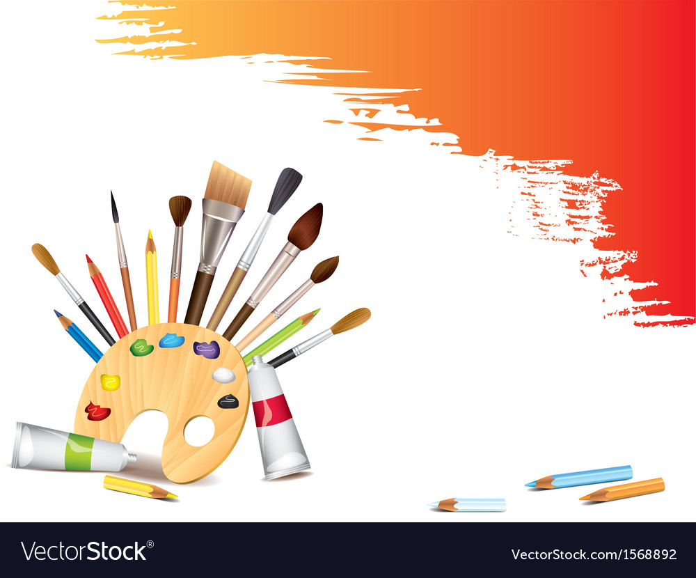 Artistic tools background vector | Price: 1 Credit (USD $1)