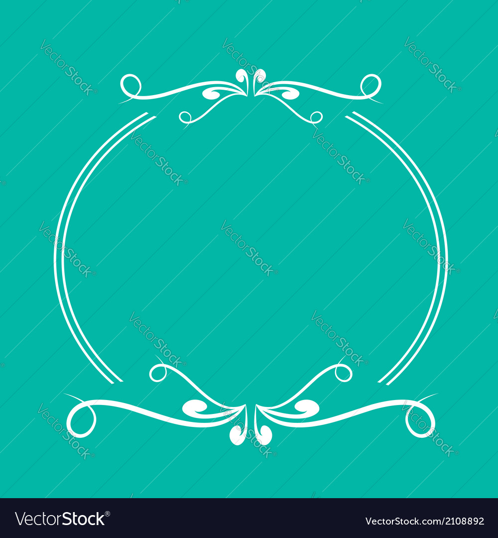 Calligraphic round frame 3 abstract design element vector | Price: 1 Credit (USD $1)