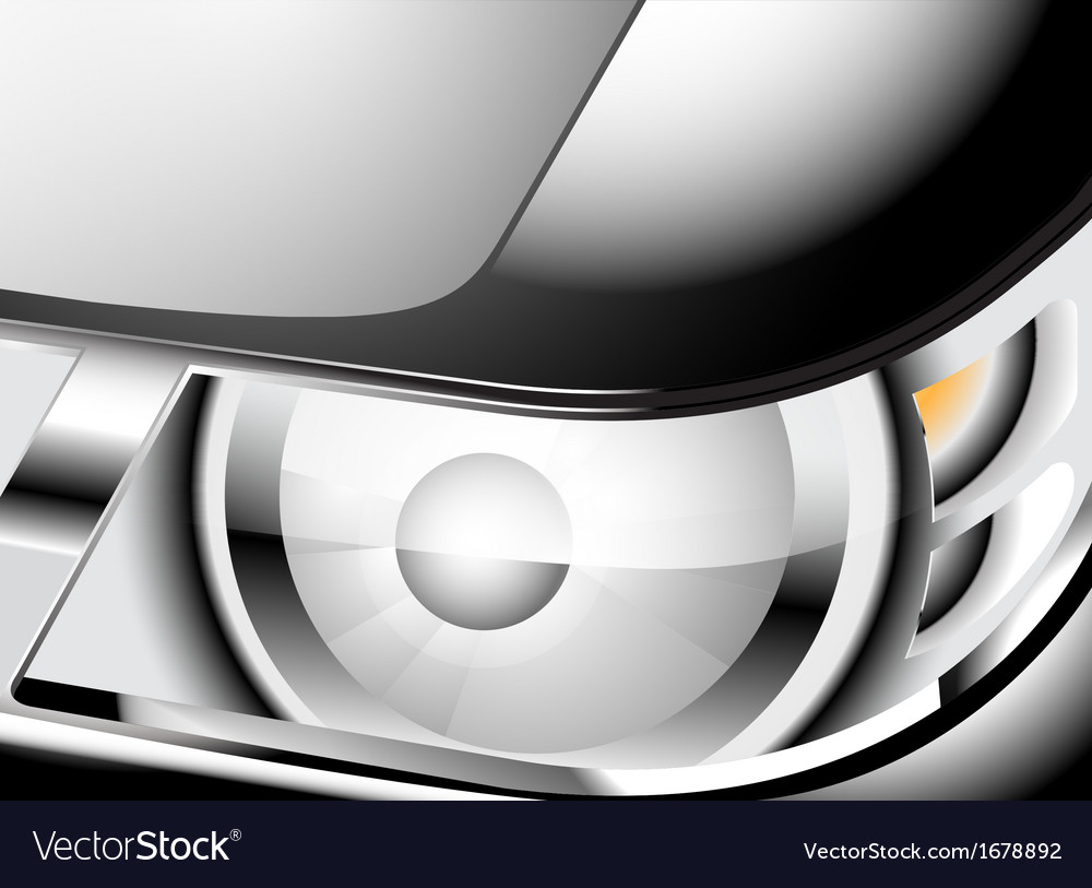 Close up car headlight vector | Price: 1 Credit (USD $1)
