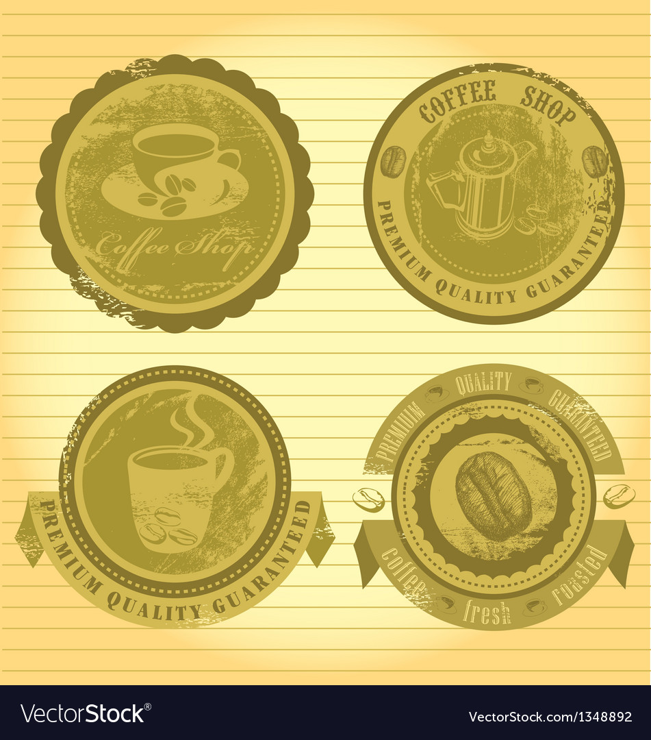 Coffee signs vector | Price: 1 Credit (USD $1)