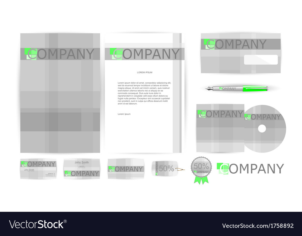 Corporate identity templates in vector | Price: 1 Credit (USD $1)