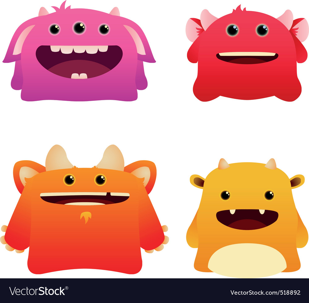 Cute monsters vector | Price: 1 Credit (USD $1)