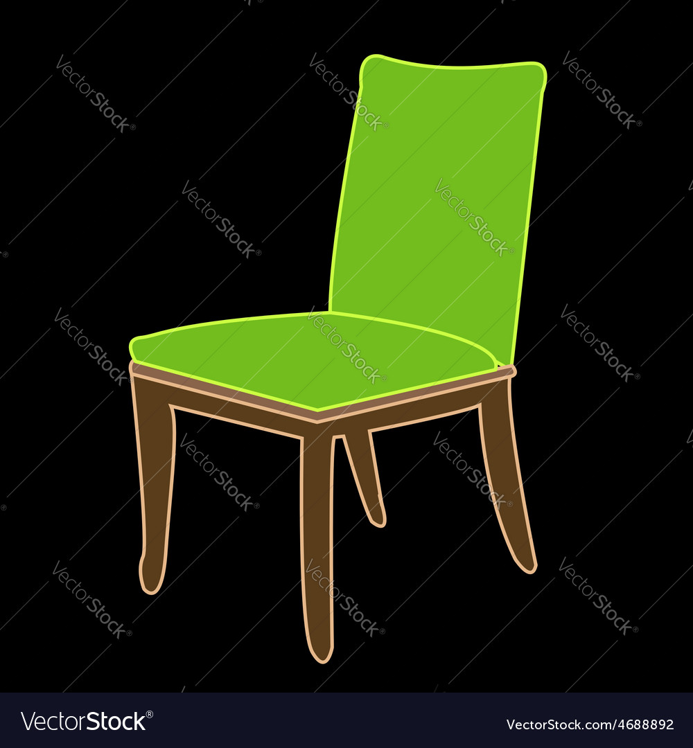 Graphic of a dining chair vector | Price: 1 Credit (USD $1)