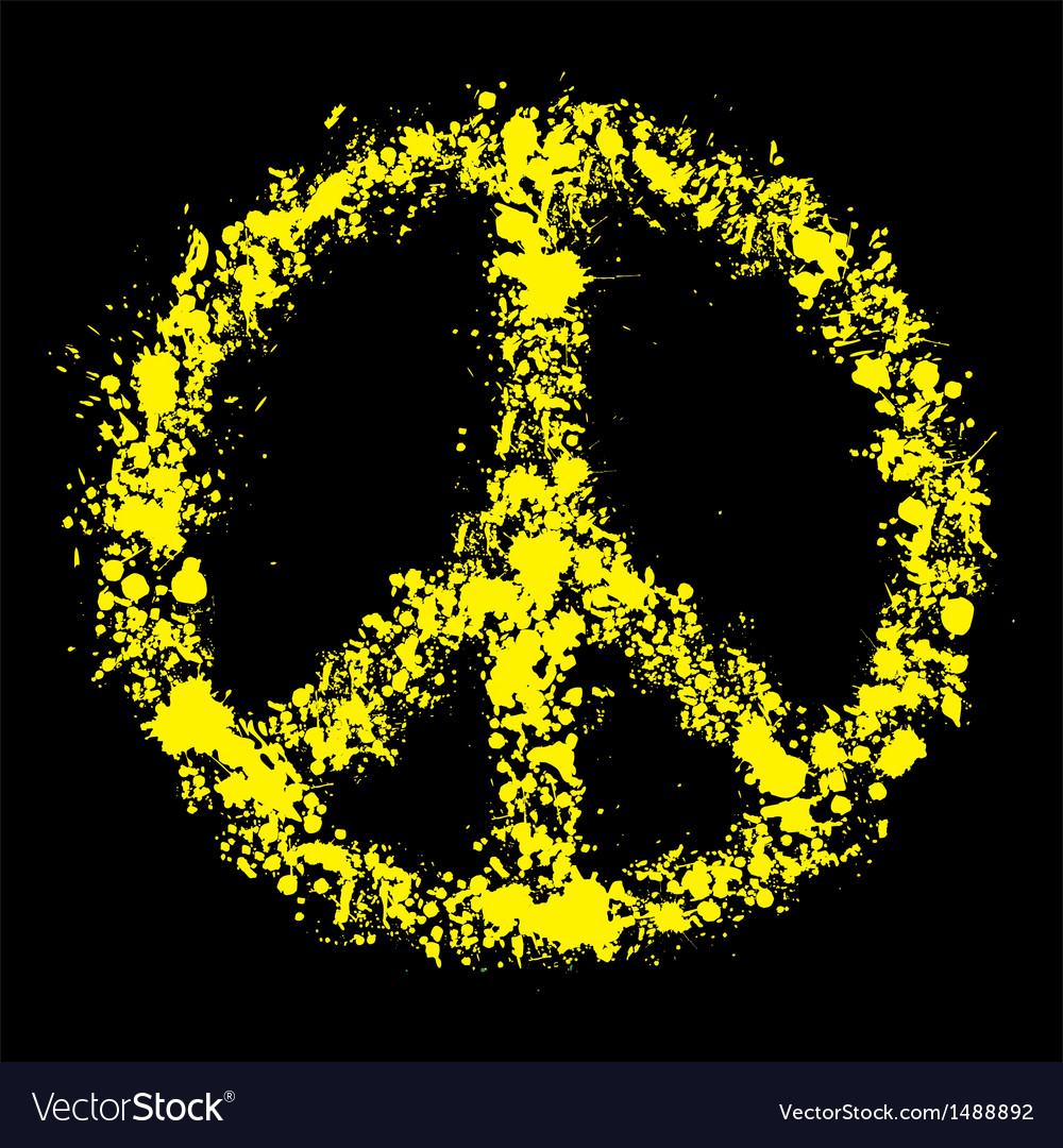 Grunge peace symbol - pacific vector | Price: 1 Credit (USD $1)