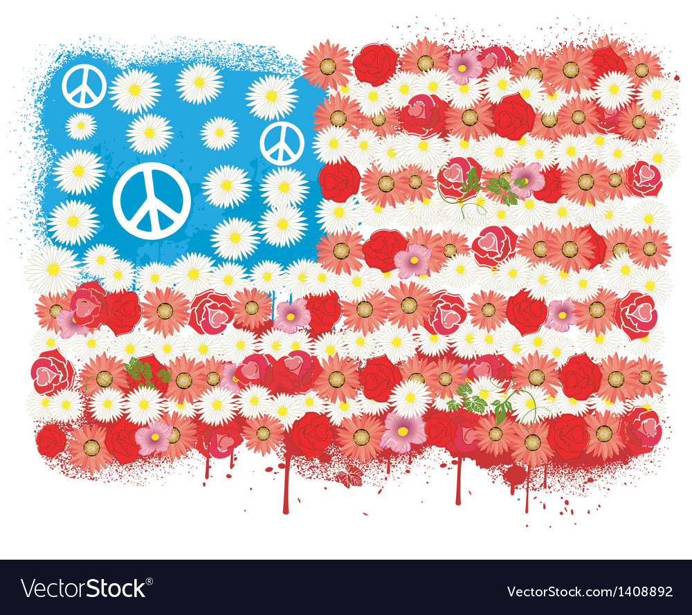 Happy peace flag usa vector | Price: 3 Credit (USD $3)