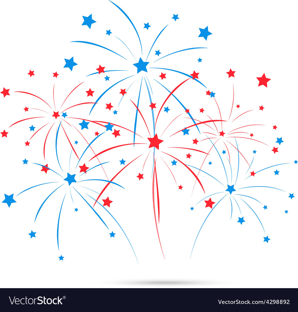Independence day fireworks vector | Price: 1 Credit (USD $1)
