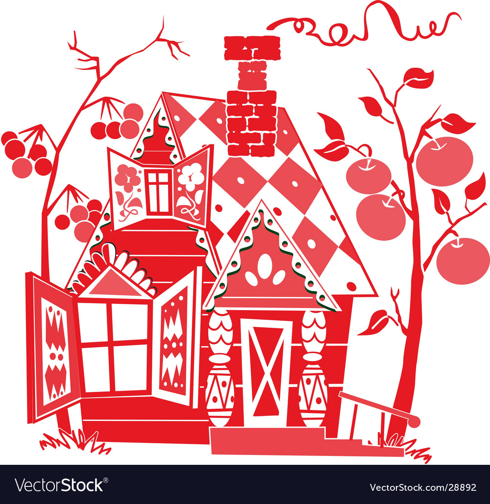 Red house vector | Price: 1 Credit (USD $1)