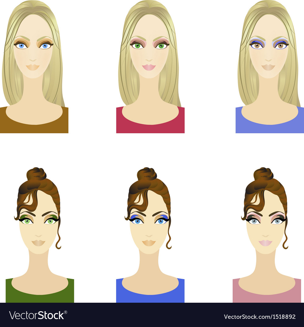 Set of make up patterns vector | Price: 1 Credit (USD $1)