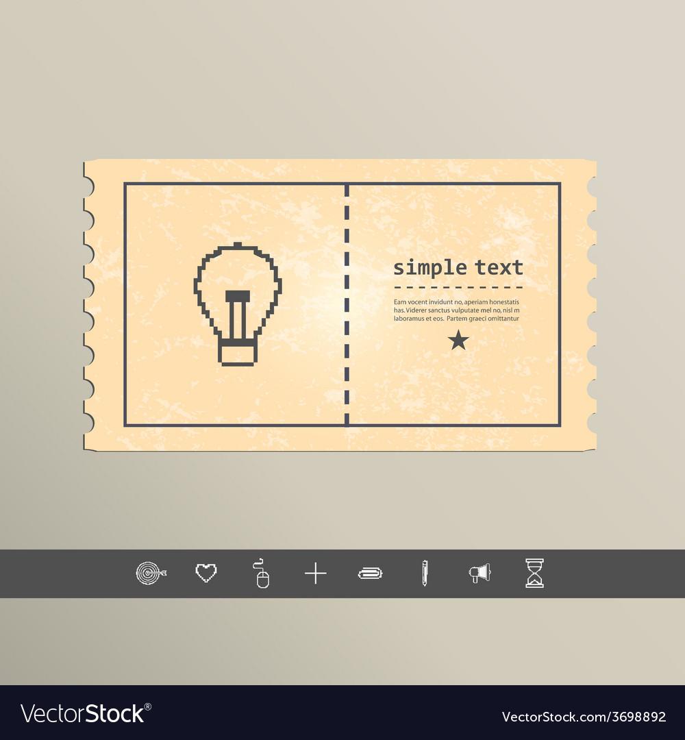 Simple stylish pixel icon bulb design vector | Price: 1 Credit (USD $1)