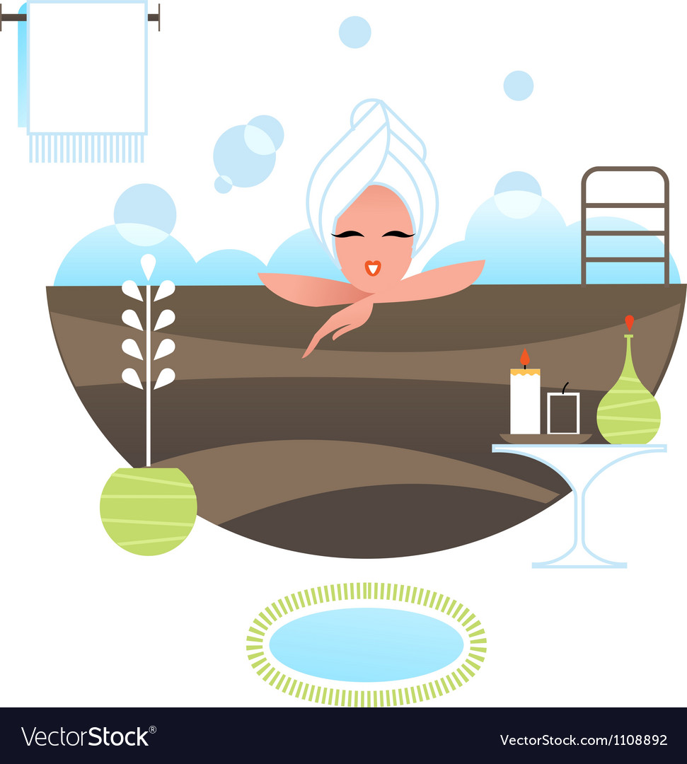 Spa girl vector | Price: 1 Credit (USD $1)