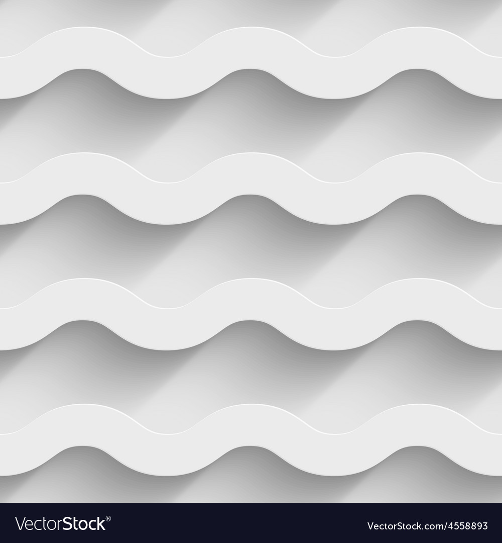 Abstract white paper 3d horizontal waves seamless vector   Price: 1 Credit (USD $1)