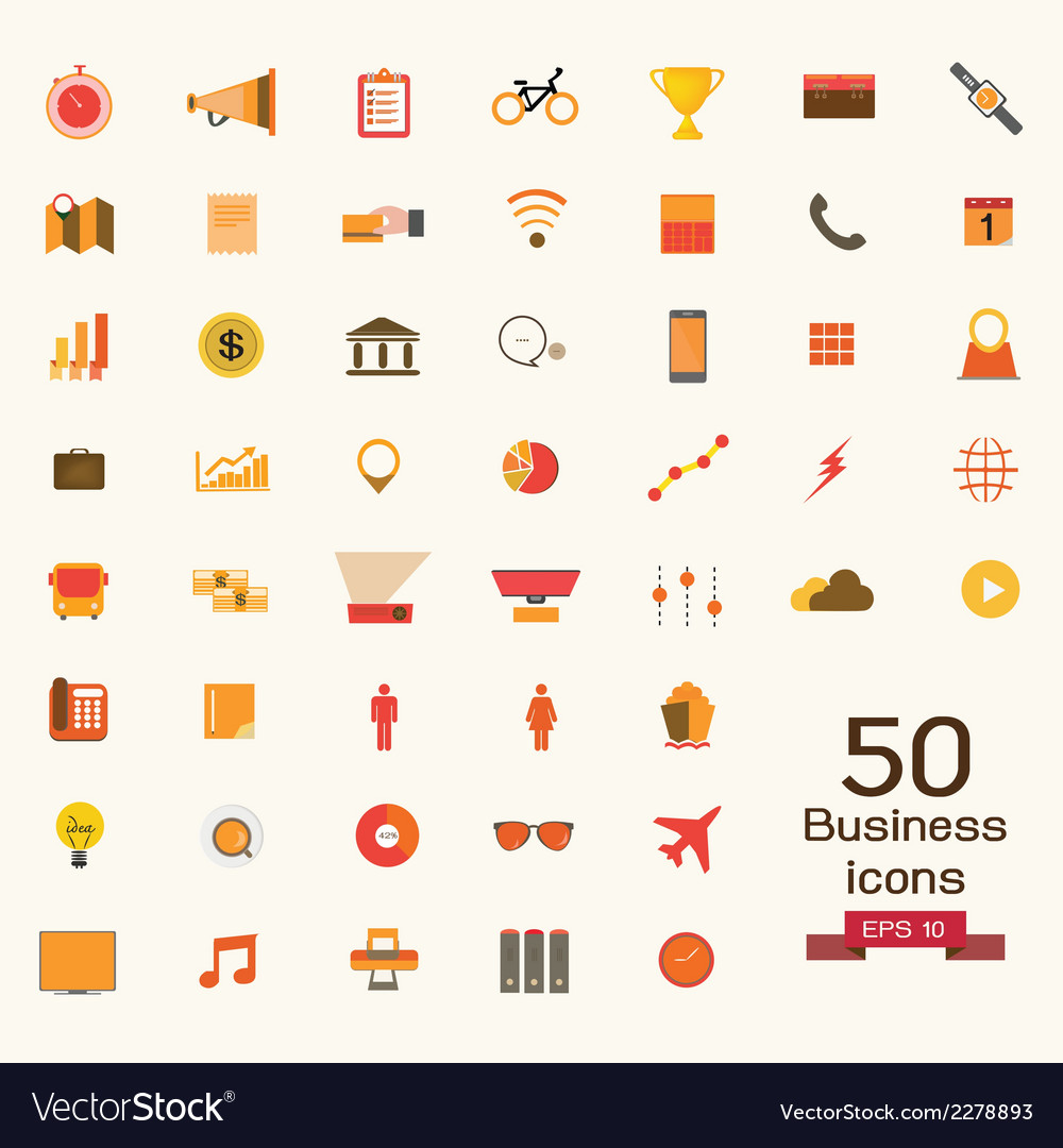 Business icons signs vector | Price: 1 Credit (USD $1)