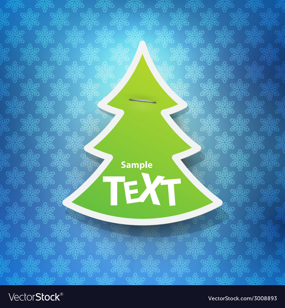 Christmas symbol tag vector | Price: 1 Credit (USD $1)