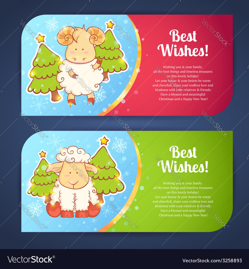 Cute winter chinese new year card vector | Price: 1 Credit (USD $1)