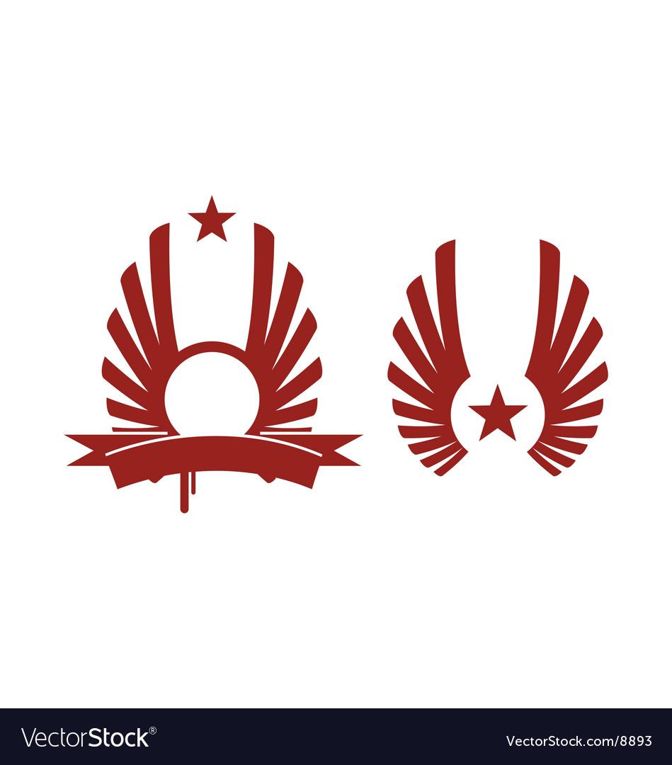 Heraldic star vector | Price: 1 Credit (USD $1)
