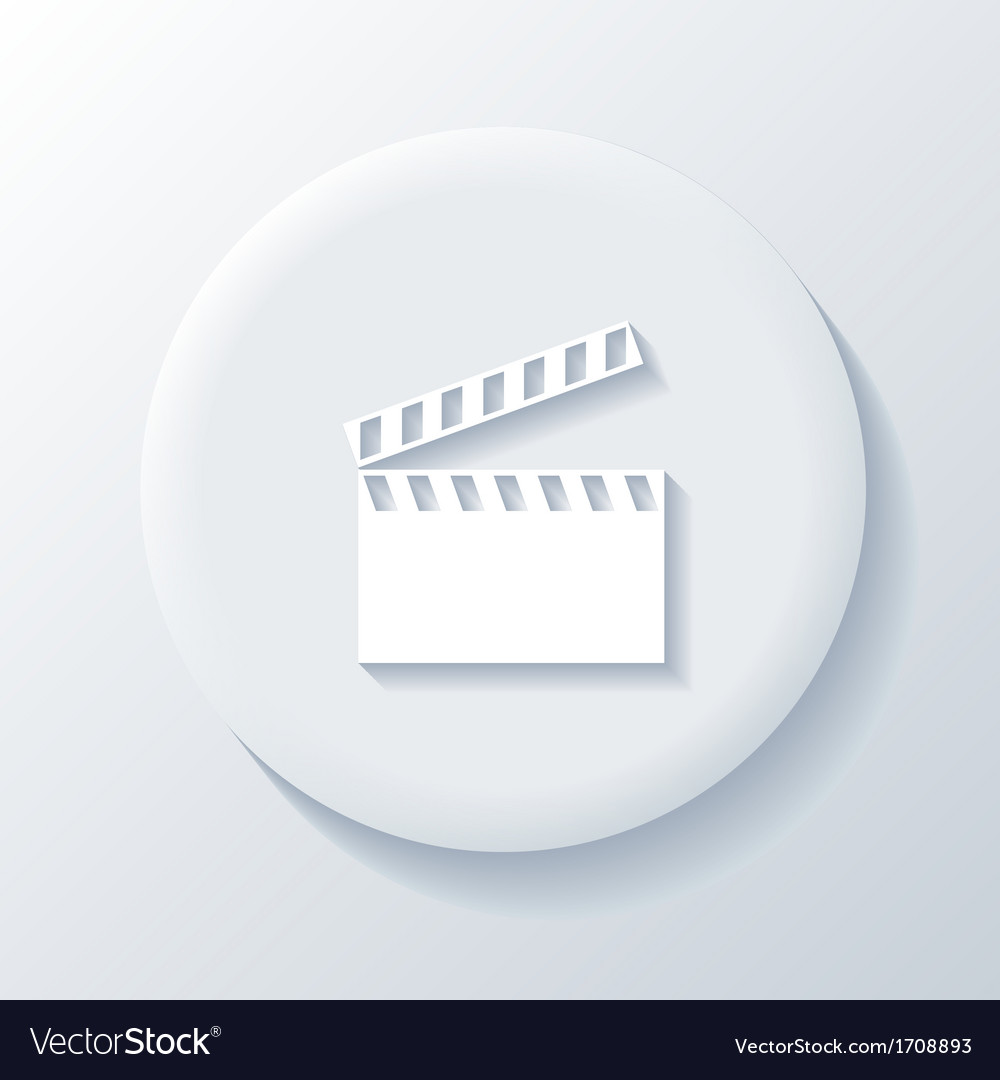 Movie 3d paper icon vector | Price: 1 Credit (USD $1)