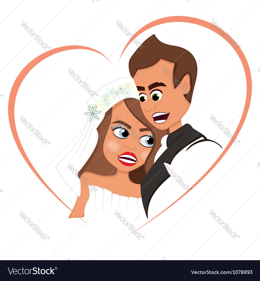 Newlyweds in love vector | Price: 1 Credit (USD $1)