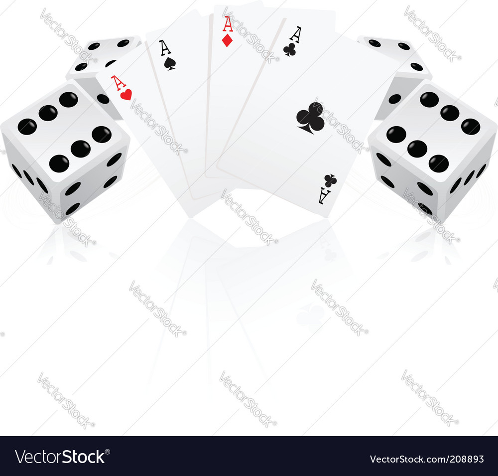 Playing cards with dices vector | Price: 3 Credit (USD $3)