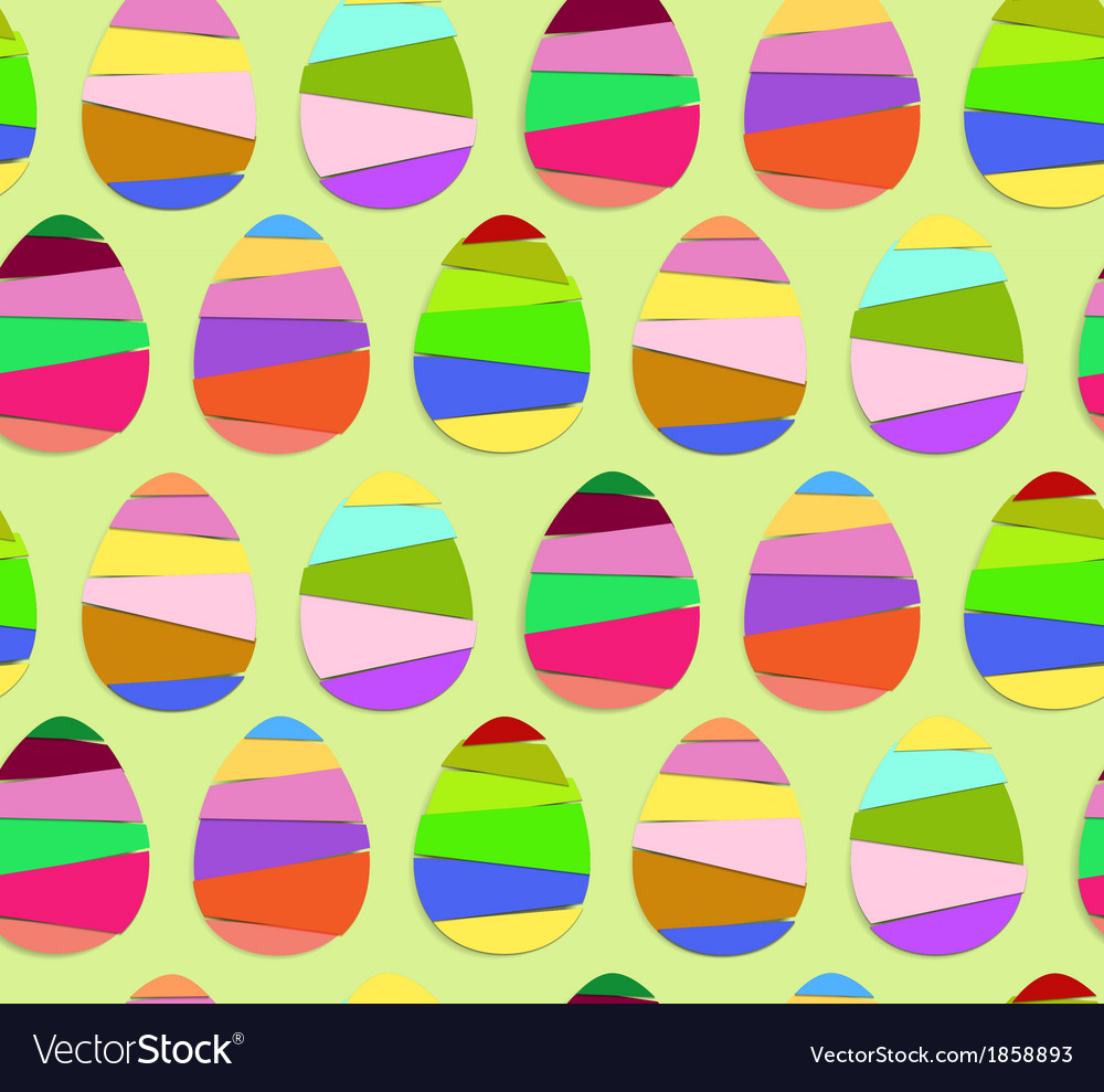 Striped easter eggs seamless pattern vector | Price: 1 Credit (USD $1)