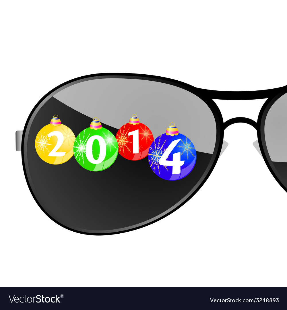 Sunglasses with 2014 year color vector | Price: 1 Credit (USD $1)