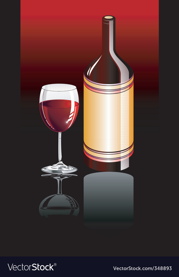 Wine glass vector | Price: 3 Credit (USD $3)