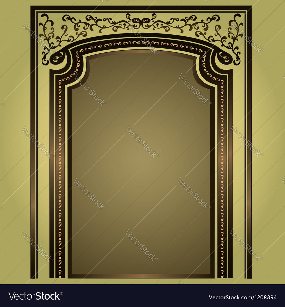 Arch with columns isolated vector | Price: 1 Credit (USD $1)