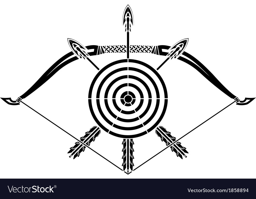 Bow and arrows vector | Price: 1 Credit (USD $1)