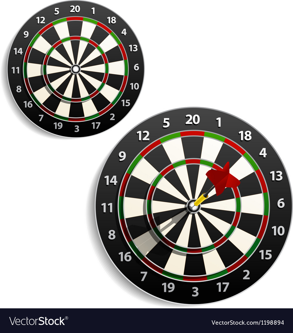 Darts set vector | Price: 1 Credit (USD $1)