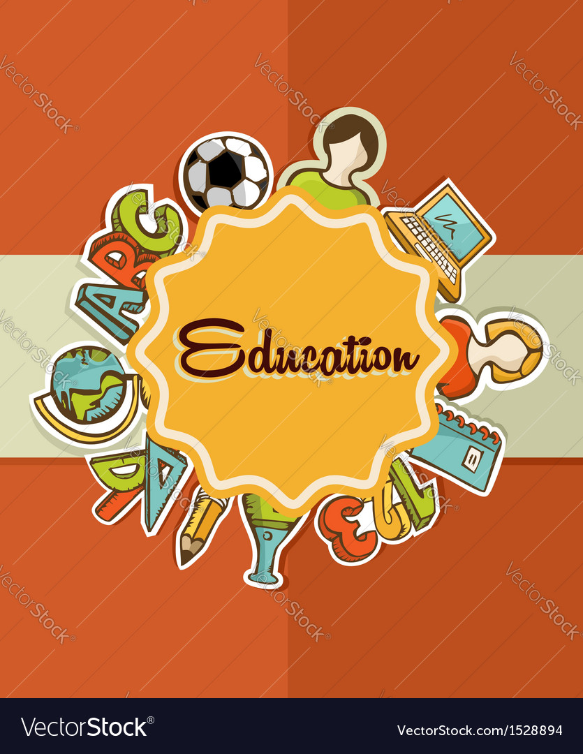 Education label back to school icons vector | Price: 1 Credit (USD $1)