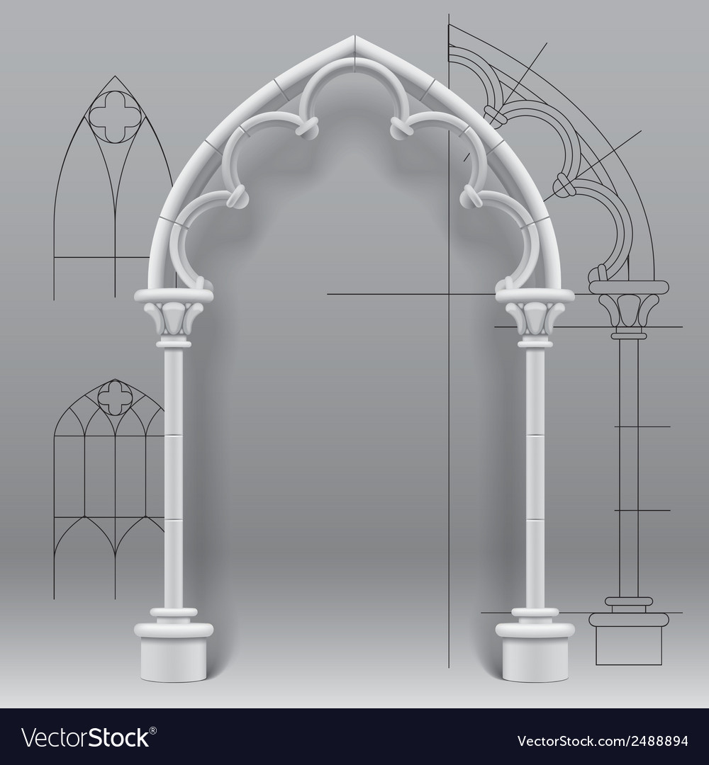 Gothic arch vector | Price: 1 Credit (USD $1)