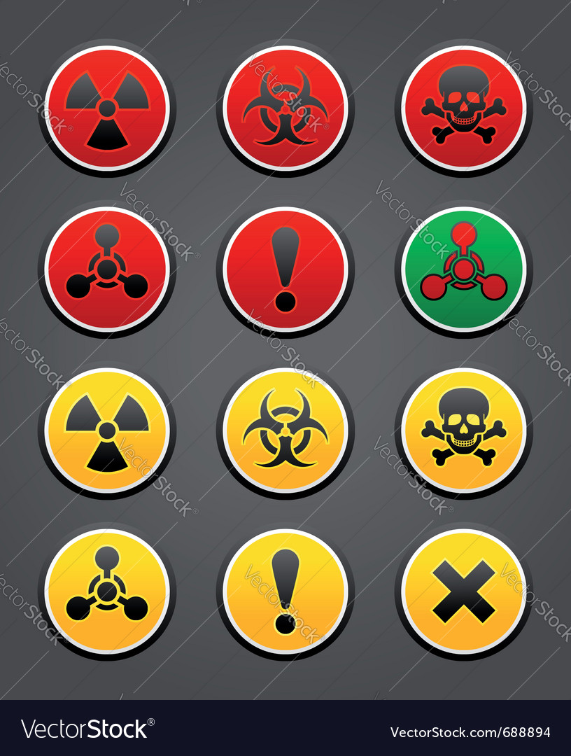 Hazard safety sign vector | Price: 1 Credit (USD $1)