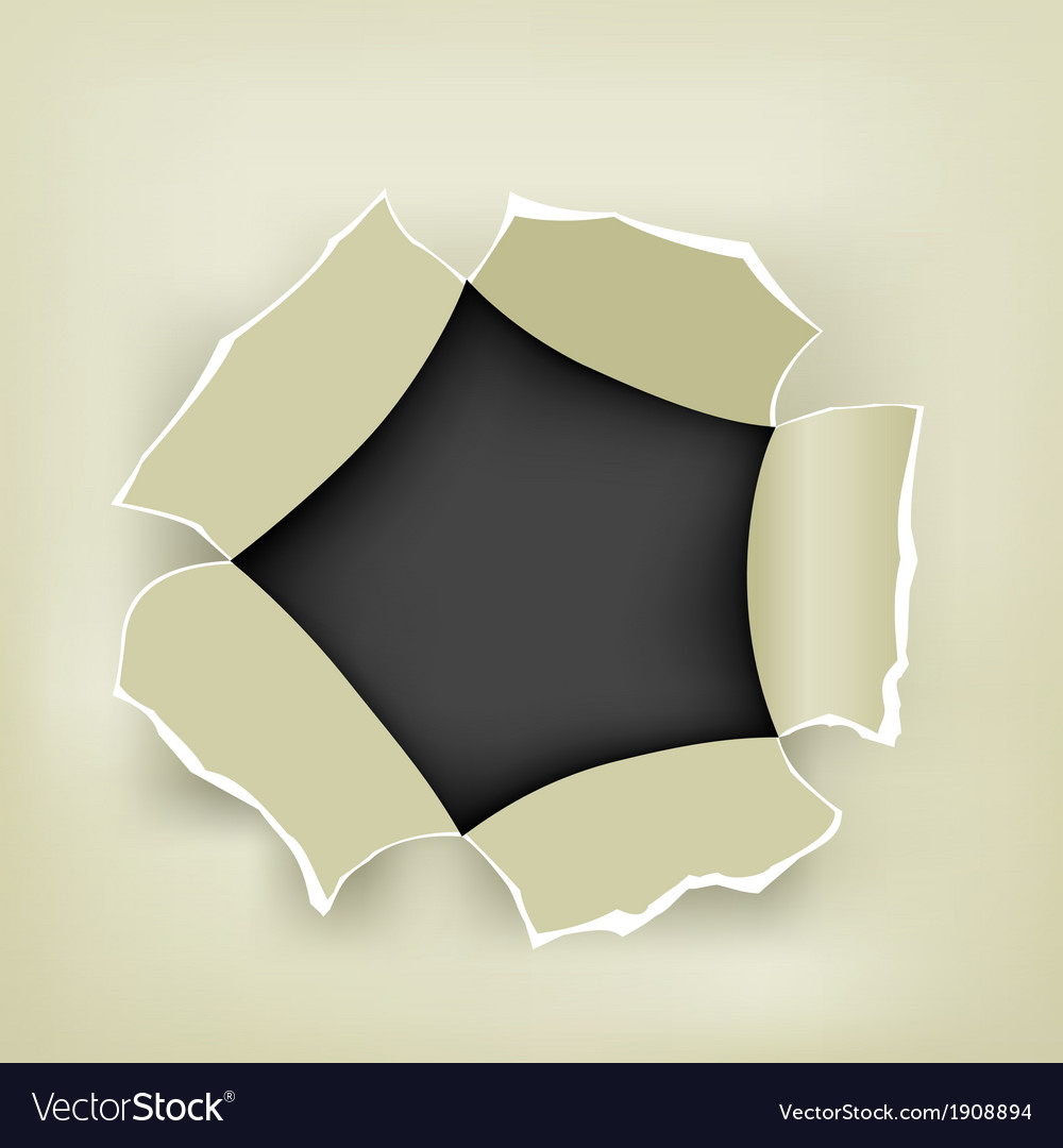 Hole in paper vector | Price: 1 Credit (USD $1)