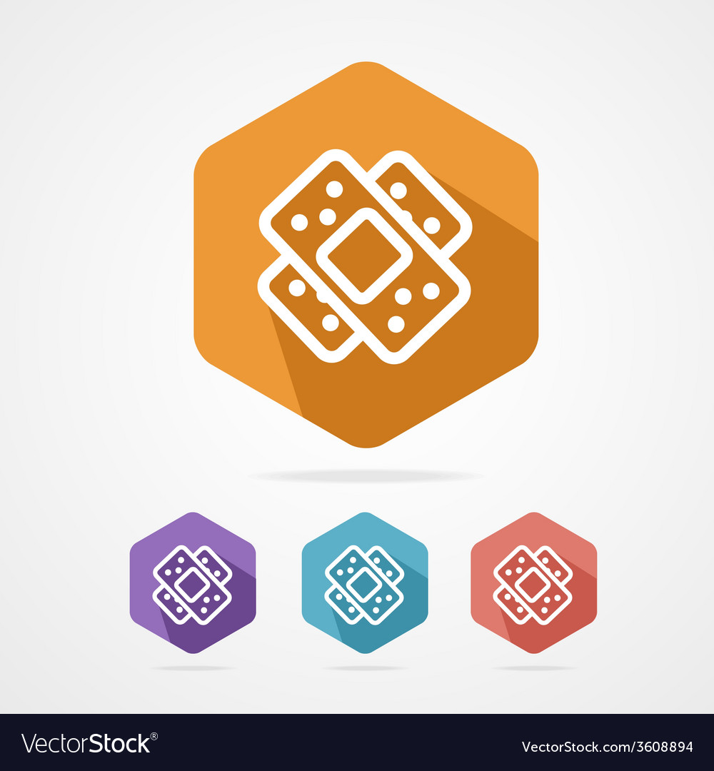 Two plaster icon patch flat icons vector | Price: 1 Credit (USD $1)