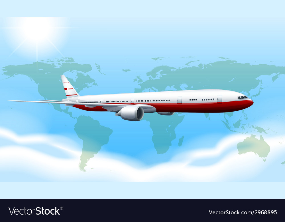 A plane travelling vector | Price: 1 Credit (USD $1)