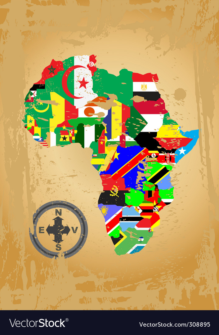 Africa map vector | Price: 1 Credit (USD $1)