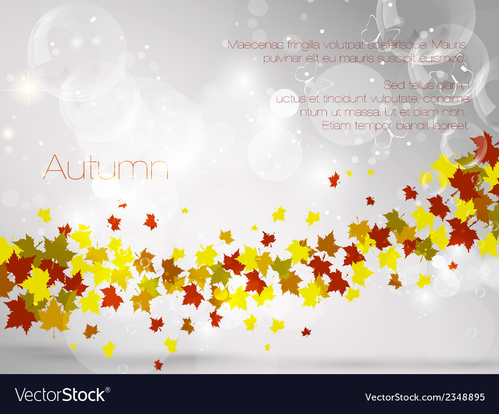 Autumnal leaf background vector | Price: 1 Credit (USD $1)