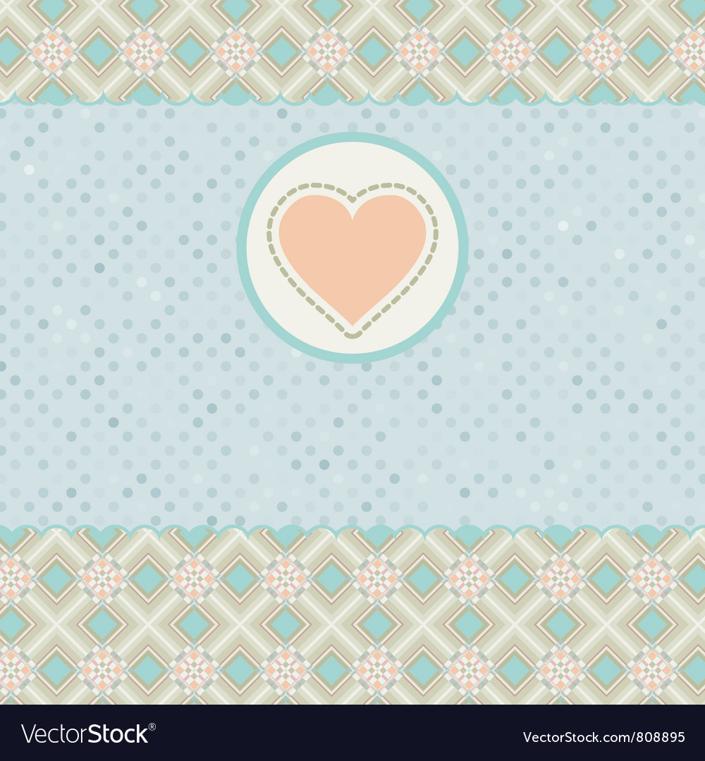 Beautiful valentine card with heart eps 8 vector | Price: 1 Credit (USD $1)