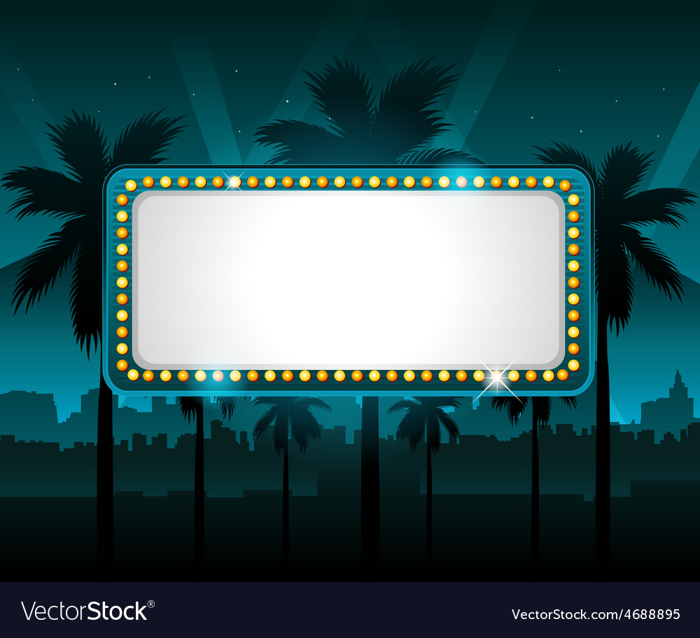 Casino banner with city lights in background vector | Price: 3 Credit (USD $3)