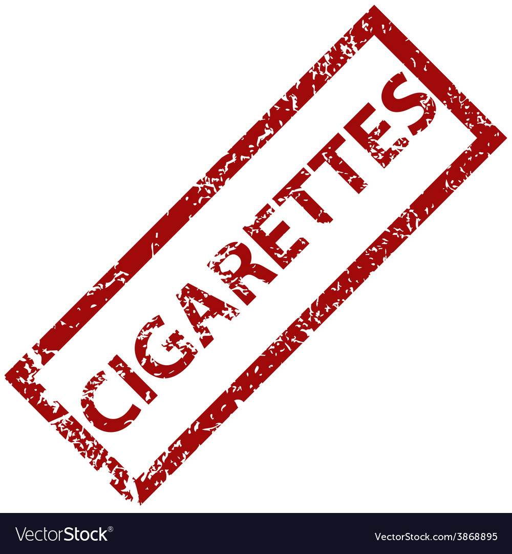 Cigarettes rubber stamp vector | Price: 1 Credit (USD $1)